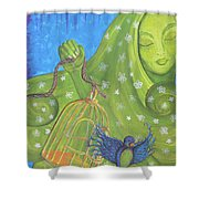 I Know Why The Caged Bird Sings Pro Shower Curtain