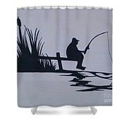 I Like To Fish Shower Curtain