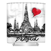I Love Bangkok Shower Curtain