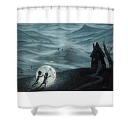 I Love Dreaming Into That Dying Light Shower Curtain