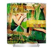 I Love Green Shower Curtain