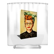 I Love Lucy Nose On Fire Canvas Art Shower Curtain