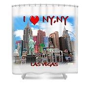 I Love Ny Ny Shower Curtain