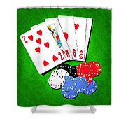 I Love Poker Shower Curtain