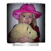 I Love Pooh Bear Shower Curtain