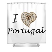 I Love Portugal Shower Curtain