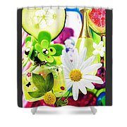 I Love Spring_with Border Shower Curtain
