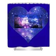 I Love The Night Sky Shower Curtain