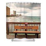 I Love The Sand Shower Curtain
