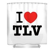i love TLV Shower Curtain