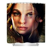 I Love You Camille Shower Curtain