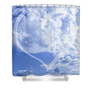 I Love You To The Clouds And Back Shower Curtain
