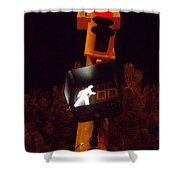 I Now Climb The Hill Shower Curtain by Guy Ricketts