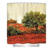 I Papaveri Sulla Collina Shower Curtain