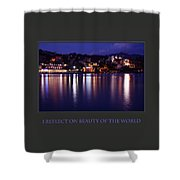 I Reflect On Beauty Of The World Shower Curtain