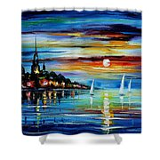 I Saw A Dream - Palette Knife Oil Painting On Canvas By Leonid Afremov Shower Curtain