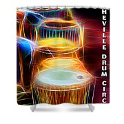 I Sing The Drums Electric Shower Curtain