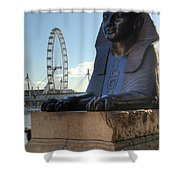 I Sphinx It Is The London Eye Shower Curtain