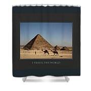 I Travel The World Cairo Shower Curtain