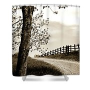 I Walk The Gravel Road 2 Shower Curtain