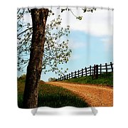 I Walk The Gravel Road Shower Curtain