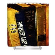 I Was A Drug Addict And Other Great Literature Shower Curtain