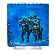 I Will Carry You Shower Curtain by Leslie Allen