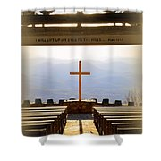 I Will Lift My Eyes To The Hills Psalm 121 1 Vertical 2 Shower Curtain