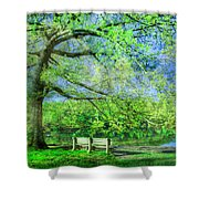 I Will Wait For You In Summer Shower Curtain