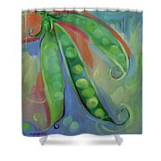 I Wish You Peas Shower Curtain