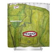 I Worked At Texaco Shower Curtain