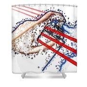 I Woz Here Shower Curtain