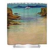 Ibiza In The Distance.... Shower Curtain