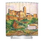 Ibiza Old Town Unesco Site Shower Curtain