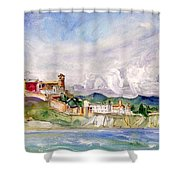 Ibiza Panoramic 02 Shower Curtain