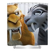 Ice Age Continental Drift Shower Curtain