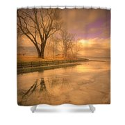Ice And Light Shower Curtain