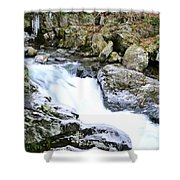 Ice And Moss Shower Curtain