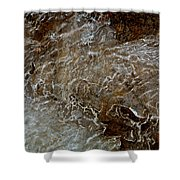 Ice And Rock Abstract Shower Curtain