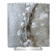 Ice And The Beach Three  Shower Curtain