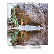 Ice Attack - Paint Shower Curtain
