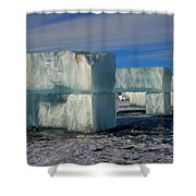 Ice Blocks Shower Curtain