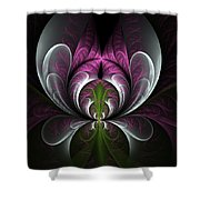 Ice Bloom Shower Curtain