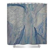 Ice Blue Angel Shower Curtain