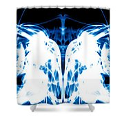 Ice Blue Shower Curtain by Sumit Mehndiratta