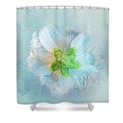 Ice Blue Under Shower Curtain