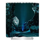 Ice Breaker Star Gazer Shower Curtain