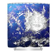 Ice Burst Shower Curtain