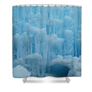 Ice Castles In Lincoln New Hampshire -2 Shower Curtain