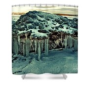 Ice Cave Of Stones Shower Curtain